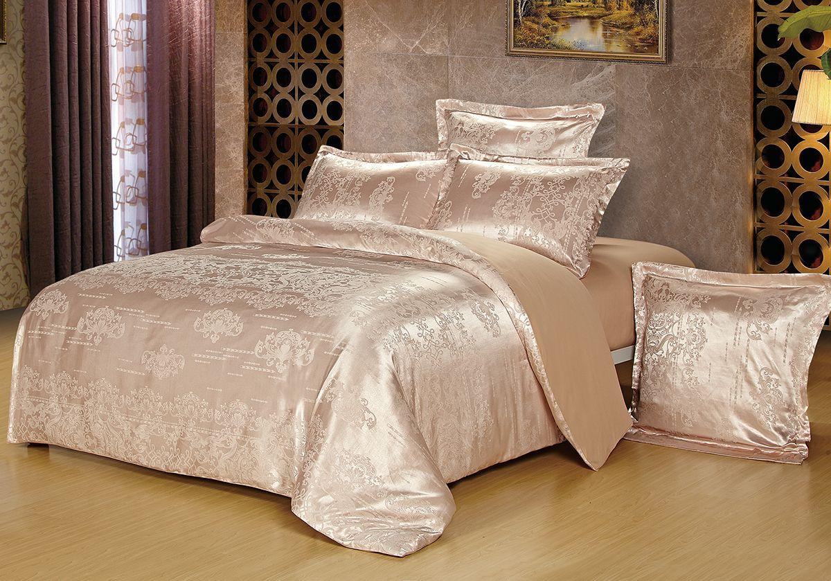 Комплект белья Versailles Мими, 2-спальный, наволочки 50x70, цвет: розовыйS03301004Комплект постельного белья Versailles изготовлен из сатина, сотканного из хлопка с добавлением вискозных волокон. Белье дарит приятные тактильные ощущения на протяжении всего сна, а уникальные жаккардовые узоры придают танки мягкий блеск и обеспечивают материалу особую прочность. Постельное белье Versailles - отличный подарок на любое торжество и идеальный выбор для взыскательных покупателей. Комплект состоит из пододеяльника, простыни и двух наволочек. Состав: хлопок 70%, вискоза 30%
