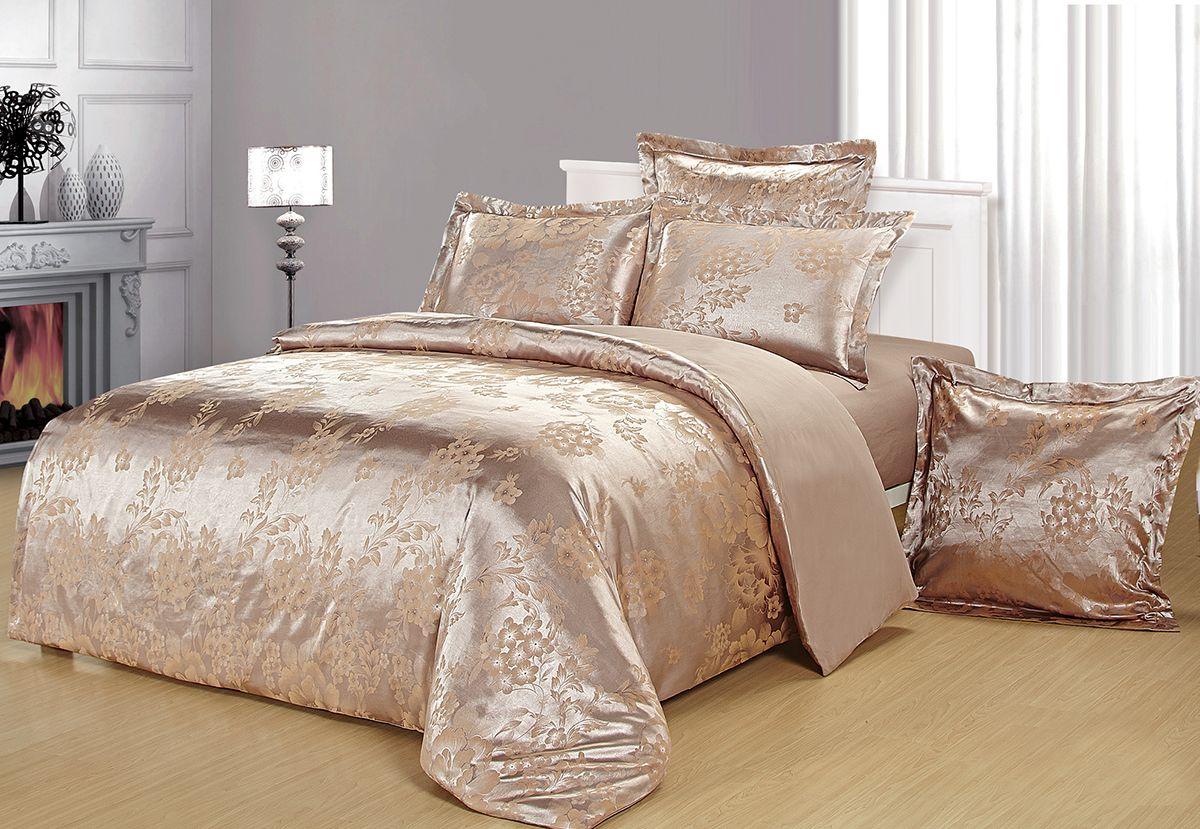 Комплект белья Versailles Данита, евро, наволочки 50x70, цвет: золотойDAVC150Комплект постельного белья Versailles изготовлен из сатина, сотканного из хлопка с добавлением вискозных волокон. Белье дарит приятные тактильные ощущения на протяжении всего сна, а уникальные жаккардовые узоры придают танки мягкий блеск и обеспечивают материалу особую прочность. Постельное белье Versailles - отличный подарок на любое торжество и идеальный выбор для взыскательных покупателей. Комплект состоит из пододеяльника, простыни и четырех наволочек. Состав: хлопок 70%, вискоза 30%