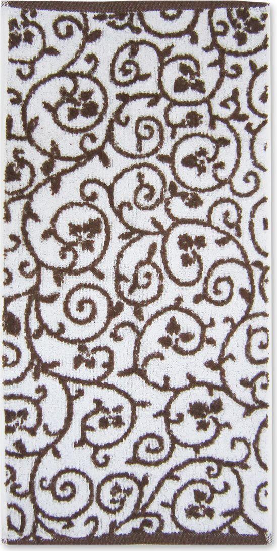 Полотенце махровое Bravo Верона, цвет: коричневый, белый, 45 х 90 см531-105Полотенце Верона выполнено из натуральной махровой ткани (100% хлопок). Изделие отлично впитывает влагу, быстро сохнет, сохраняет яркость цвета и не теряет форму даже после многократных стирок. Полотенце очень практично и неприхотливо в уходе. Оно создаст прекрасное настроение и украсит интерьер в ванной комнате.