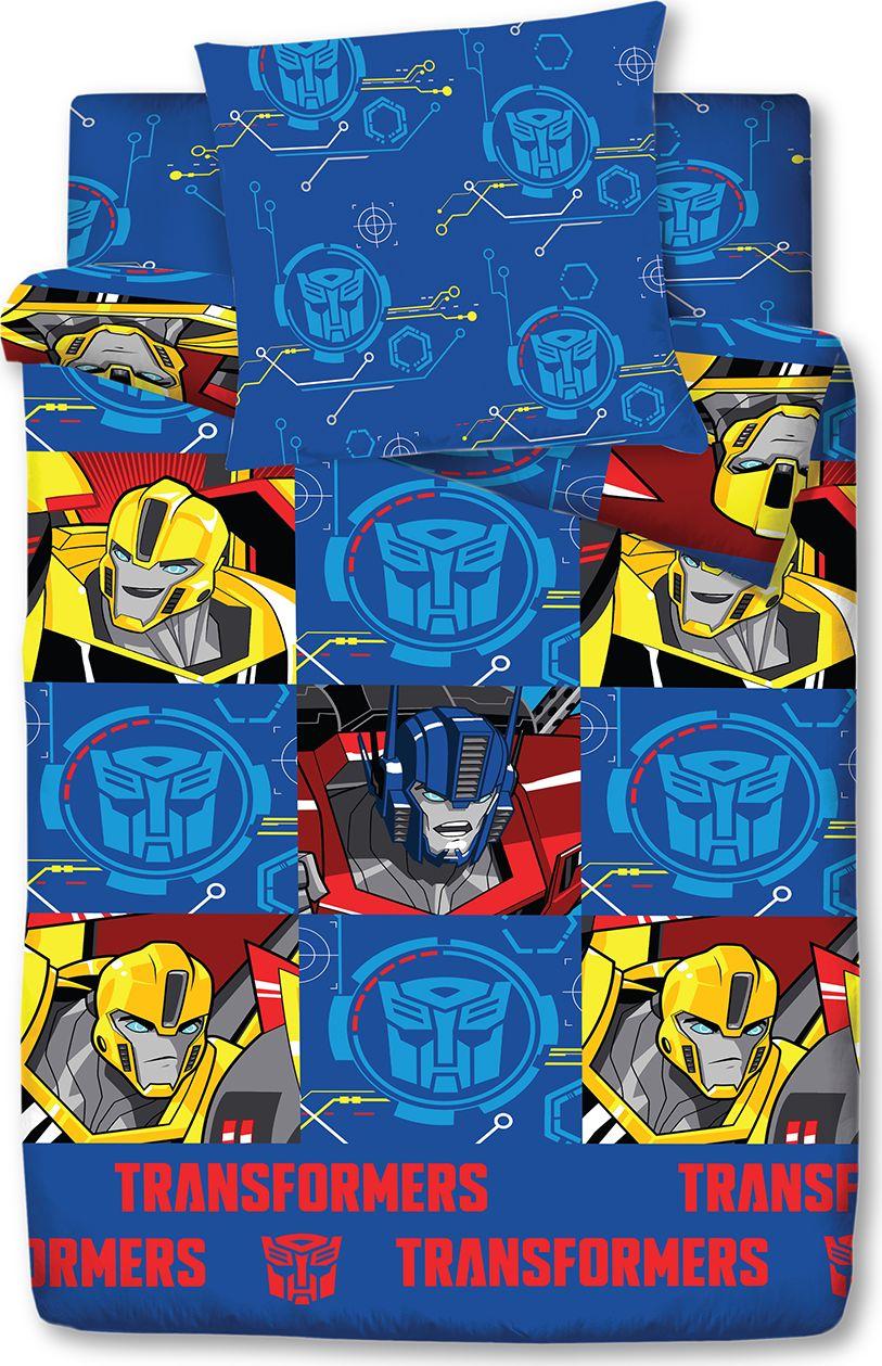 Комплект белья Трансформеры Active, 1,5 спальное, наволочки 70x70, цвет: синий. 4116-186445