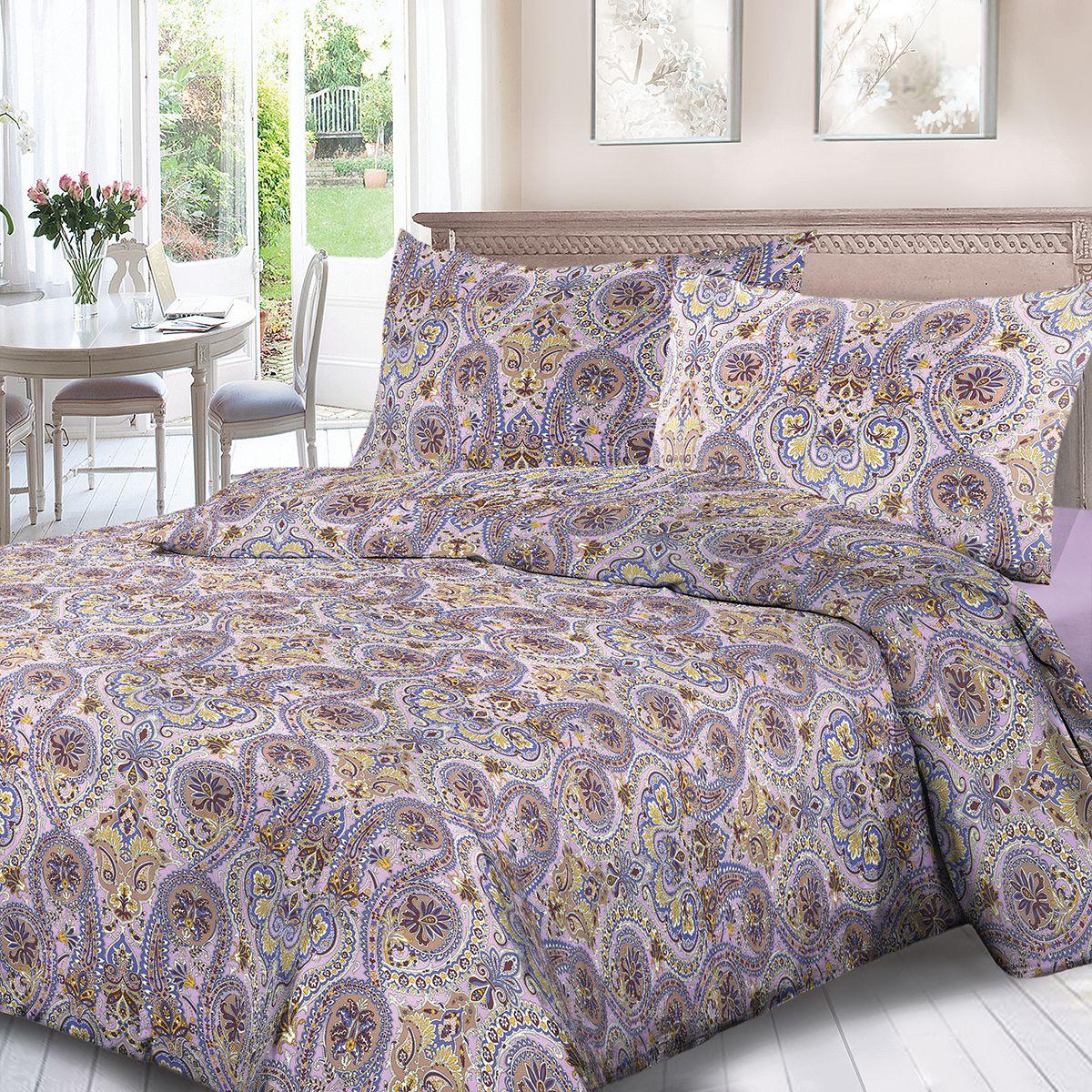 Комплект белья Для Снов Восточная сказка, 1,5 спальное, наволочки 70x70, цвет: сиреневый. 4078-186447