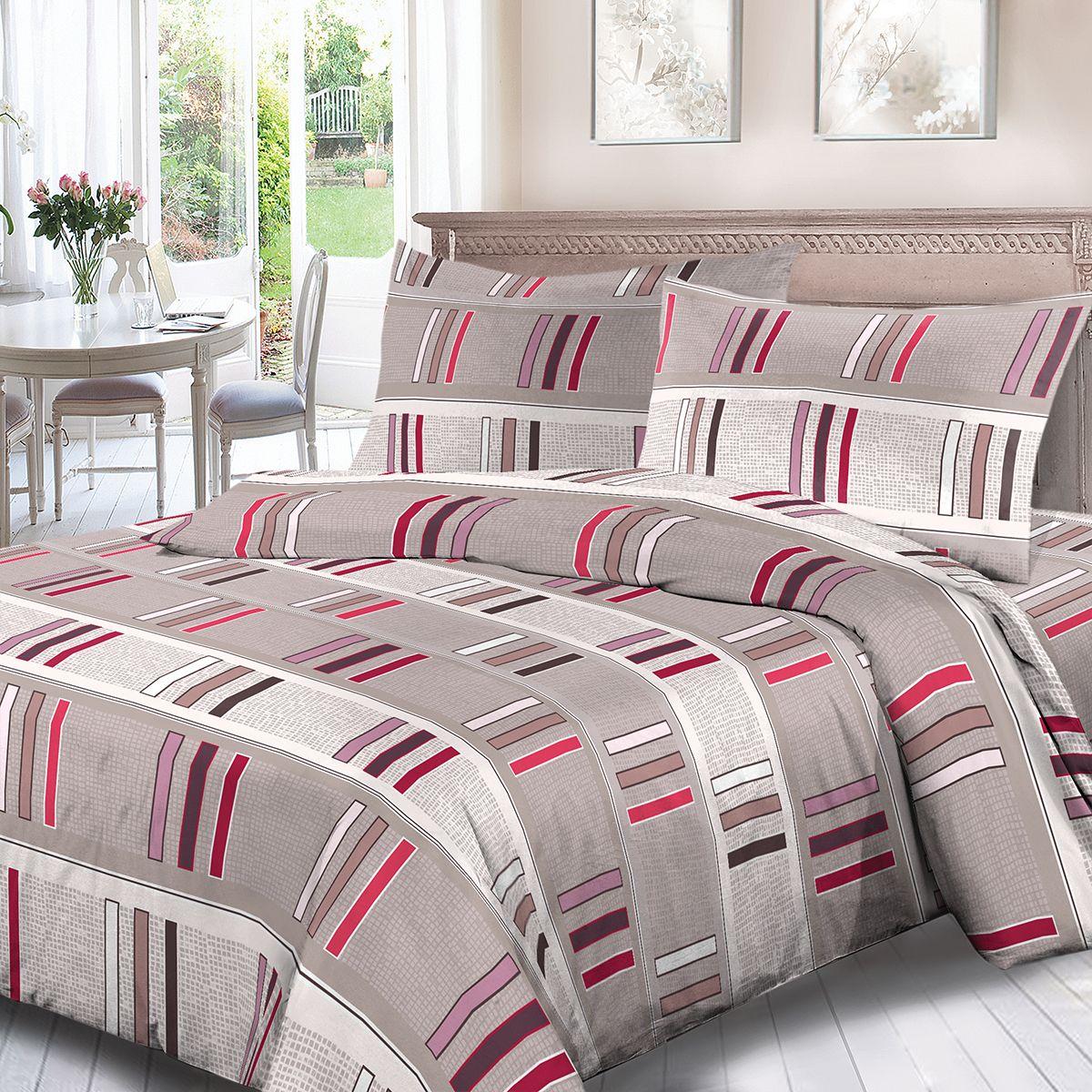 Комплект белья Для Снов Гранд, 1,5 спальное, наволочки 70x70, цвет: серый. 1880-186483