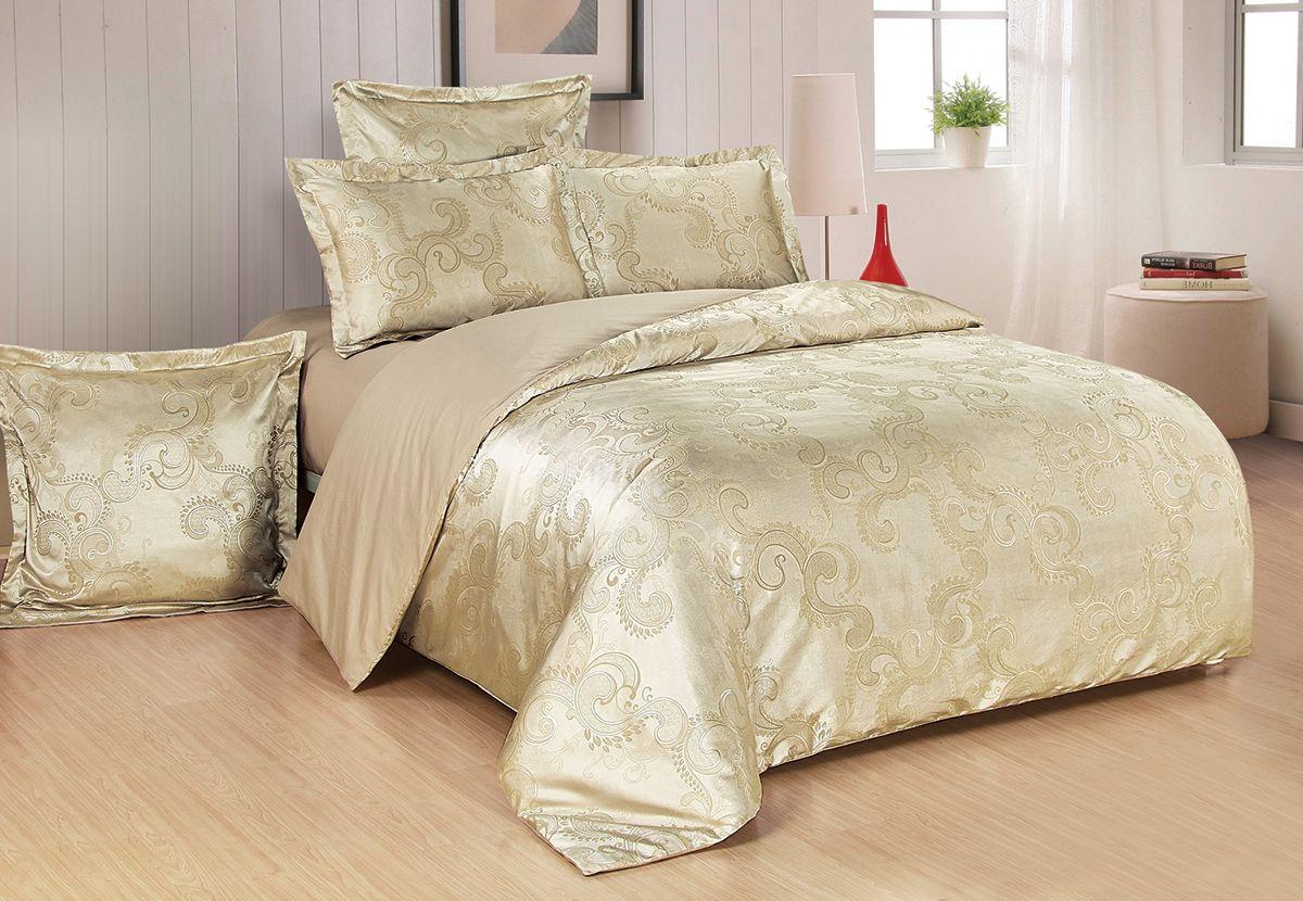 Комплект белья Versailles Миранда, евро, наволочки 50x70, цвет: золотой86697Коллекция Versailles относится к продукции класса люкс. Постельное белье из сатина, сотканного из хлопка с добавлением вискозных волокон дарит приятные тактильные ощущения на протяжении всего сна, а уникальные жаккардовые узоры придают танки мягкий блеск и обеспечивают материалу особую прочность. Постельное белье «Versailles» - отличный подарок на любое торжество и идеальный выбор для взыскательных покупателей . Состав: Хлопок 70%, вискоза 30%