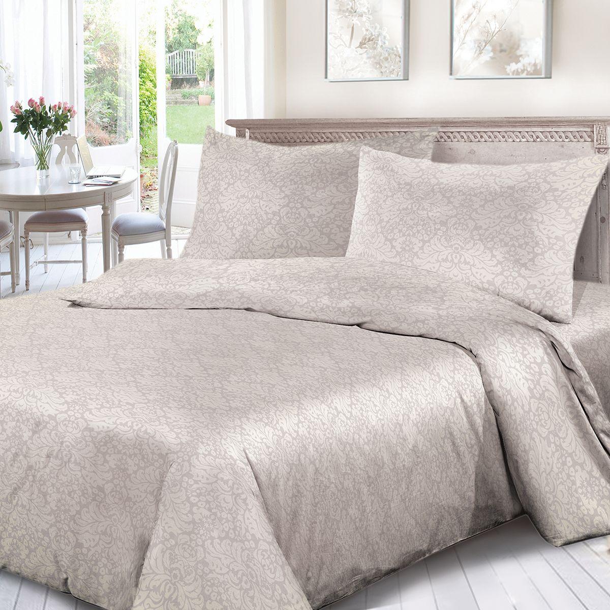 Комплект белья Сорренто Мирелла, 1,5 спальное, наволочки 70x70, цвет: светло-бежевый. 4125-190433