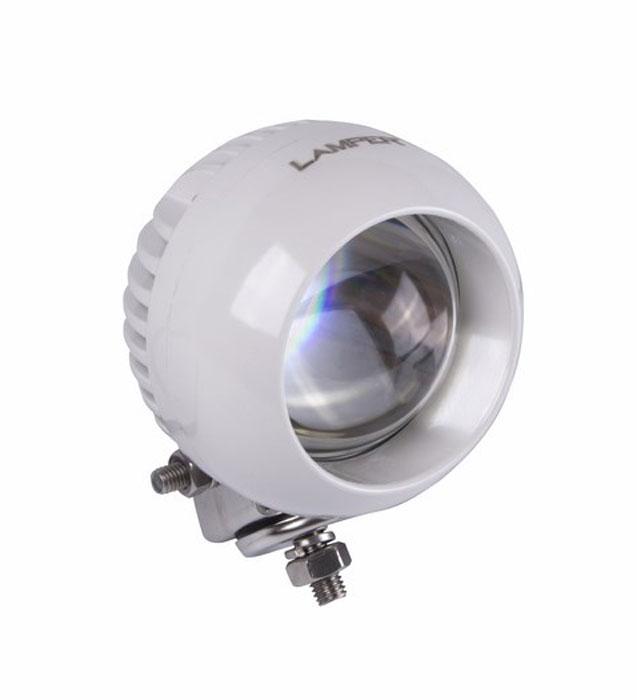 Фара автомобильная Lamper, светодиодная, 25 W80-1073Напряжение: 12-30 Вольт Мощность одного светодиода: 25W Модель светодиода: CREE Кол-во светодиодов: 1 шт. Световой поток: 2100 Люмен Температура свечения: 5500 Кельвинов Рабочий ток при 12/24V: 2,5/1,25A Световой поток: рассеянный Подключение: водонепроницаемый разъём 2pin Крепление: болт 10мм Виброустойчивость: 10-2000Hz Линзы: ударопрорчный поликарбонат Корпус: алюминиевый сплав Размеры: 106 x 70 Пыле-влагозащищенность: IP-68 (6-полная защита от пыли,8K-полная защита от воды, выдерживает высокое давление воды во время мойки) Рабочая температура: от -40С до +105С Срок службы: 50 000 часов
