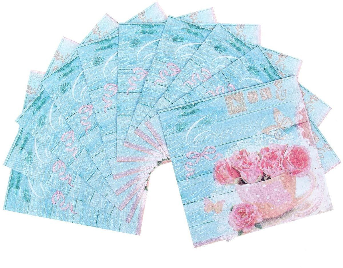 Набор салфеток для декупажа Арт Узор Шебби, 33 х 33 см, 10 штZ-0307Набор салфеток для декупажа изготовлен из тонкой, но качественной бумаги. Легко приклеится к основе и сохранит при этом насыщенность красок и четкость линий.Создавайте свои уникальные шедевры!