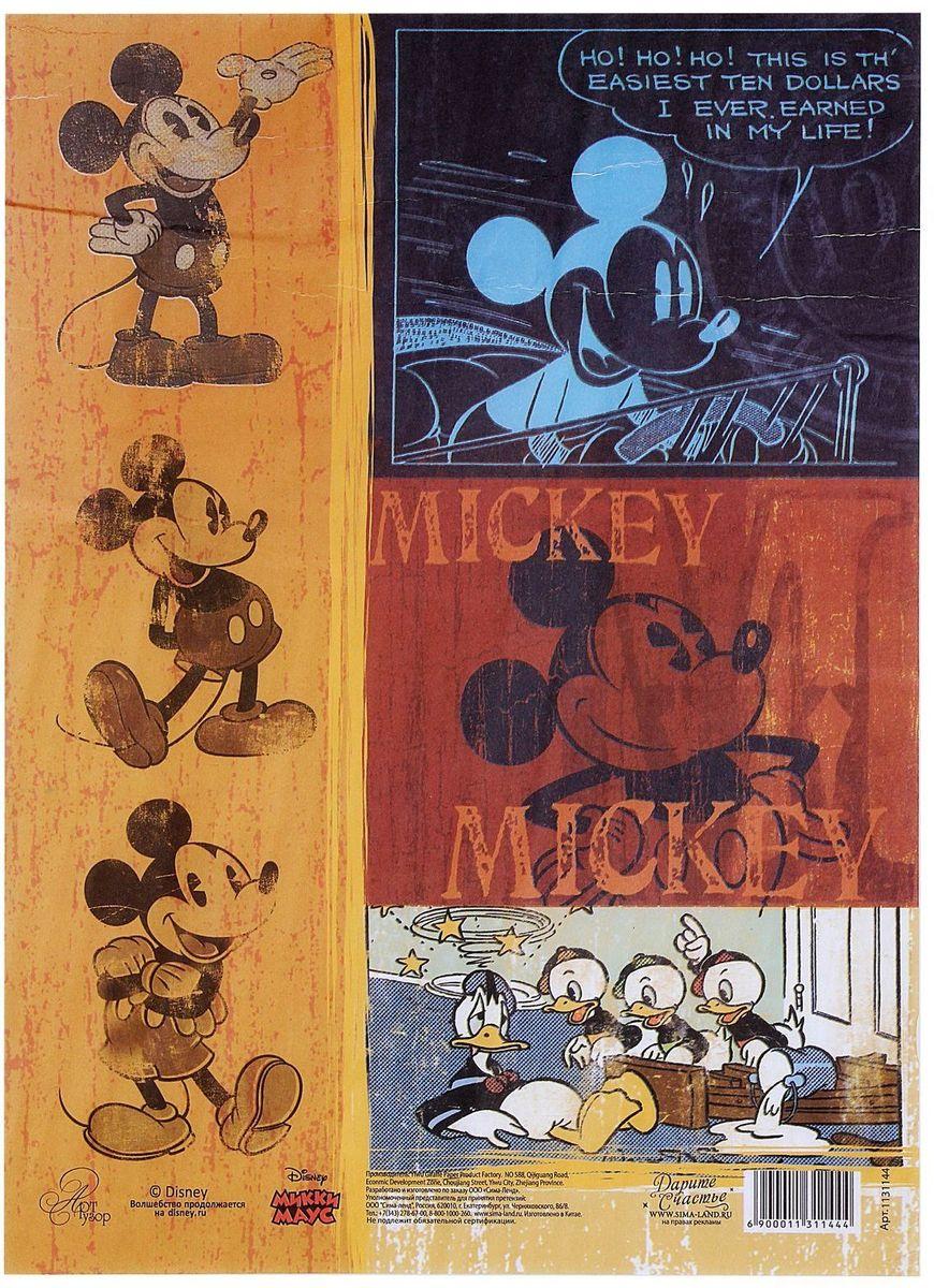 Декупажная карта Disney Классический Микки Маус, 21 х 29,7 см1131144Создавайте шедевры своими руками! С помощью декупажной карты можно быстро, просто и стильно украсить любые предметы интерьера, сувениры или подарки, сделав их по-настоящему оригинальными и эксклюзивными. Она отлично подойдёт для декупажа как больших, так и маленьких поверхностей, сохранив при этом свой насыщенный цвет. Дополнительно вам понадобятся только ножницы, кисть и клей (обычный ПВА или специальный для декупажа). Каждый лист аккуратно упакован в индивидуальный пакет с европетлёй, поэтому не повредится при перевозке и хранении.