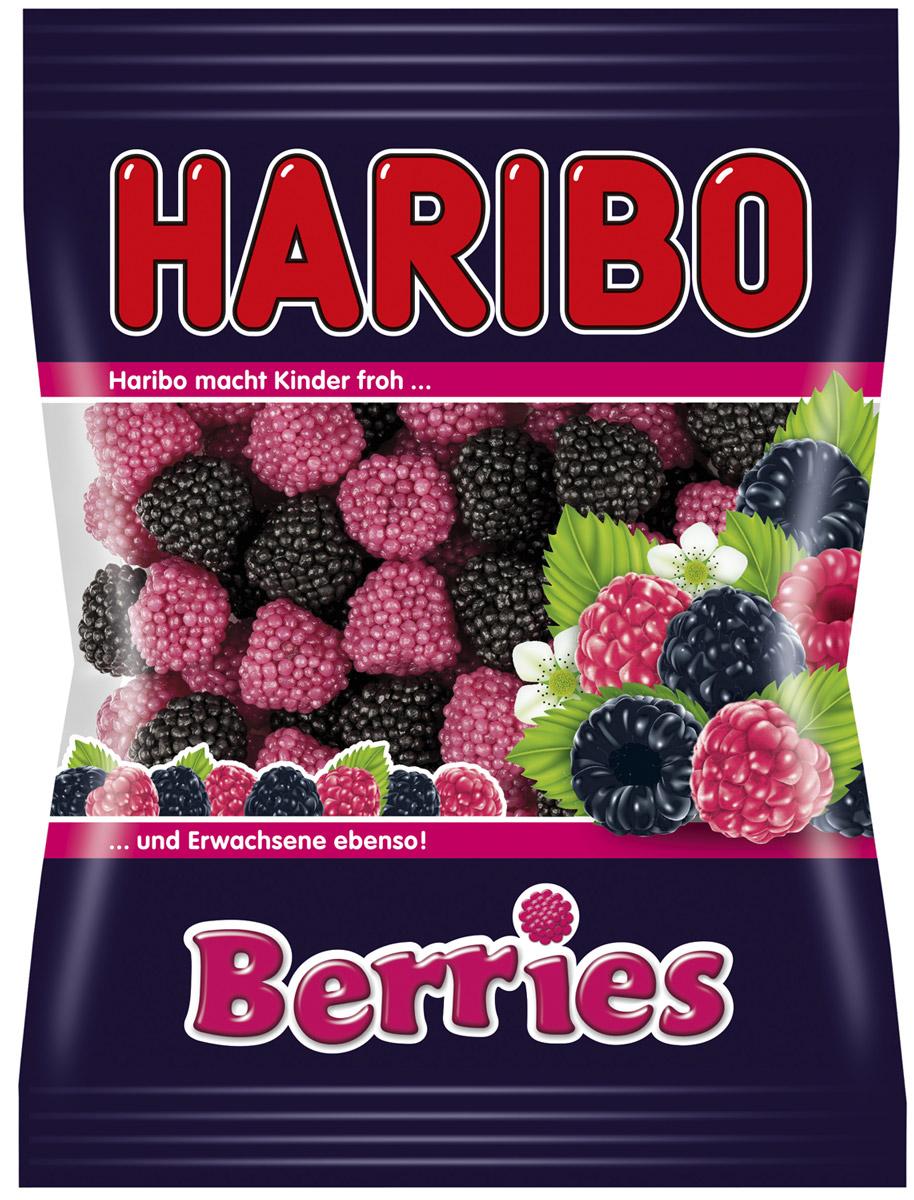 Haribo Ягоды жевательный мармелад, 100 г70512Каждая ягодка Haribo Berries состоит из мармеладного ядрышка, обсыпанного десятками сахарных жемчужин со вкусом спелой малины и сладкой ежевики. В состав входит полезный для здоровья агар-агар, который благотворно влияет на состояние волос и ногтей. Кстати, украсив Berries свою выпечку, вы придадите ей дополнительную аппетитность! Уважаемые клиенты! Обращаем ваше внимание, что полный перечень состава продукта представлен на дополнительном изображении. Упаковка может иметь несколько видов дизайна. Поставка осуществляется в зависимости от наличия на складе.