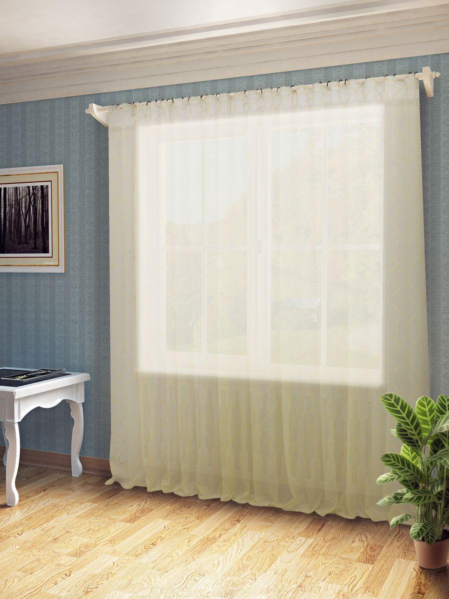 Тюль Sanpa Home Collection Тина, на ленте, цвет: экрю, высота 260 смHP1155/12/1Е Тина экрю, , 300*260 см