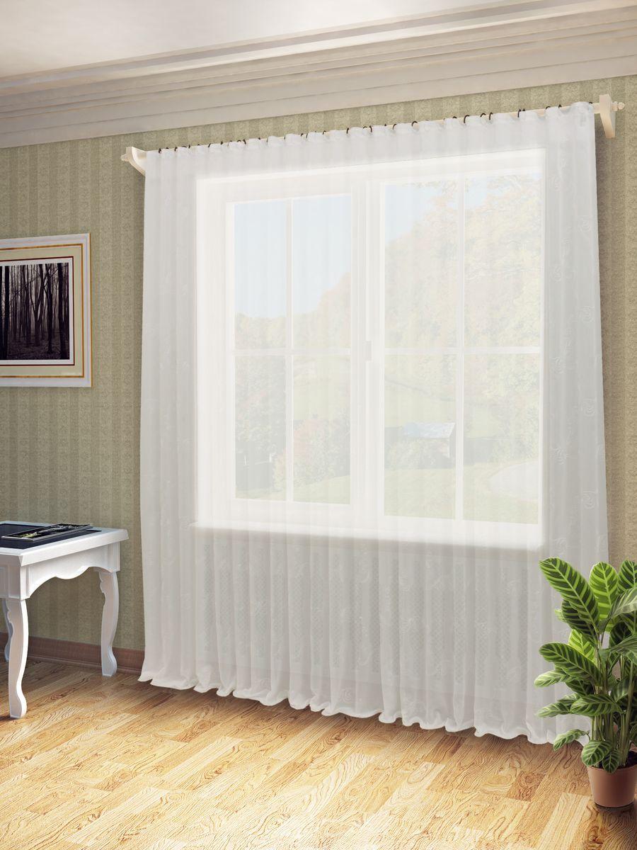 Тюль Sanpa Home Collection Дора, на ленте, цвет: белый, высота 260 смHP48641/A1/1E ДОРА белый, , 300*260 см