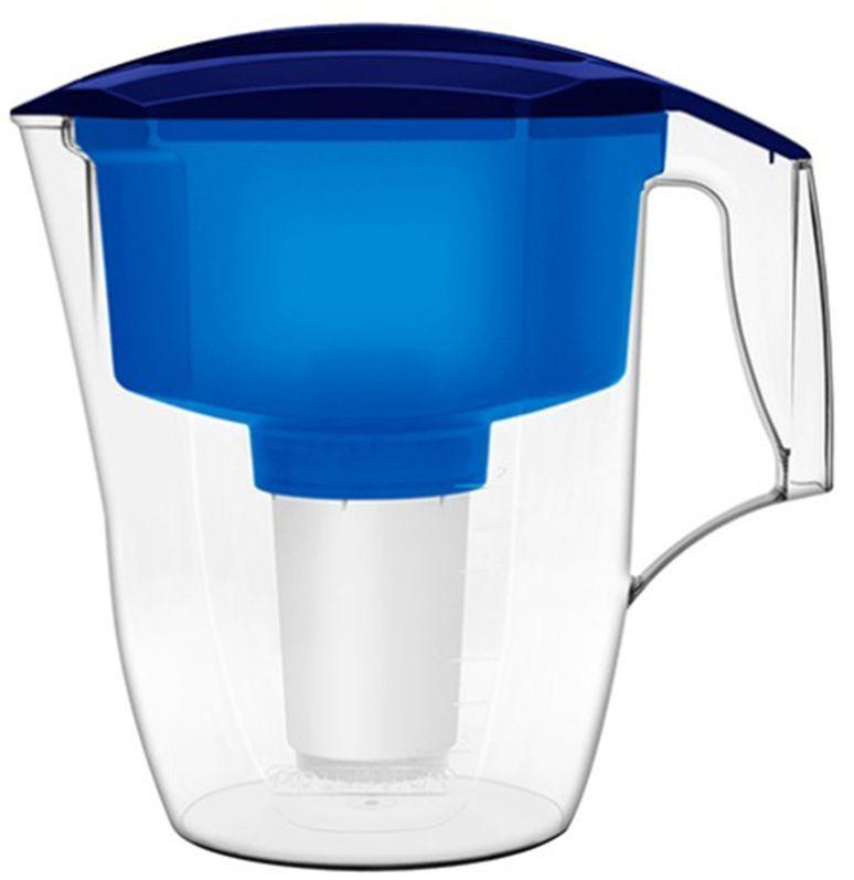 Фильтр-кувшин для воды Аквафор Кантри, цвет: синий, прозрачный, 3,9 лSC-FD421005Фильтр-кувшин Аквафор Кантри, разработанный специально для загородного дома и дачи, изготовлен из высококачественного пищевого пластика. Фильтрующий сменный модуль эффективно и необратимо задерживает пестициды, тяжелые металлы, нефтепродукты и многие другие опасные примеси. Фильтр-кувшин Аквафор Кантри не требует подключения к водопроводу и может использоваться в любом удобном для вас месте. В комплекте имеется универсальный сменный модуль В5 (В 100-5), Также к фильтру-кувшину подходят и другие сменные модули Аквафор: - В6 (В 100-6) - сменный модуль для жесткой воды;- В7 (В 100-7) - сменный модуль, сохраняющий исходный минеральный состав воды;- В8 (В 100-8) - cменный модуль для чрезмерно хлорированной воды.