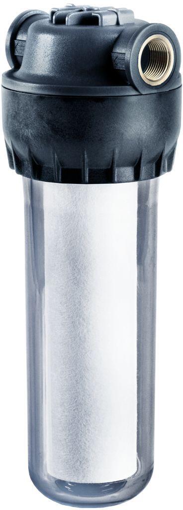 Корпус предфильтра Аквафор, для холодной воды, соединение 1/2, размер 10 SLIM, цвет: прозрачныйBA900Корпус предфильтра Аквафор с латунными вставками, предназначен для очистки холодной воды. Очищая воду от взвесей, он облегчает работу фильтра питьевой воды, защищает бытовую технику от поломок, делает прием ванны или душа более приятным.Для высокого качества очистки воды рекомендуется использовать сменные фильтрующие модули Аквафор международного стандарта 10 Slim Line. Благодаря прозрачному корпусу, вы можете наблюдать за процессом фильтрации.Выдерживает гидравлический удар до 30 атмосфер.