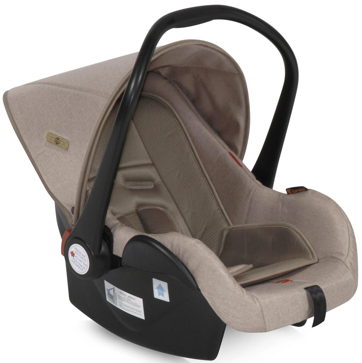 Lorelli Автокресло-переноска Lifesaver цвет бежевый от 0 до 13 кгSC-FD421005Автокресло-переноска Lorelli Lafesaver относится к группе 0+ и подходит для детей весом до 13 кг. Автокресло обеспечит безопасность и комфорт малыша во время поездок на автомобиле. Удобная ручка для переноски позволит использовать автокресло в качестве переносной люльки. Положение ручки регулируется. Автокресло оснащено солнцезащитным козырьком и съемным чехлом, благодаря чему его удобно мыть. Накладки на внутренние ремни обеспечат удобство для малыша. Внутренние 5-точечные ремни помогут бережно зафиксировать ребенка, анатомический вкладыш позволит ему принять комфортное положение, а активная защита головы сделает поездки еще более безопасными.Кресло защищено от боковых ударов. Ширина кресла и высота подголовника не регулируется. Для детей весом до 9 кг автокресло устанавливается спиной по ходу движения. В комплект также входит съемный чехол, прикрывающий ножки ребенка.