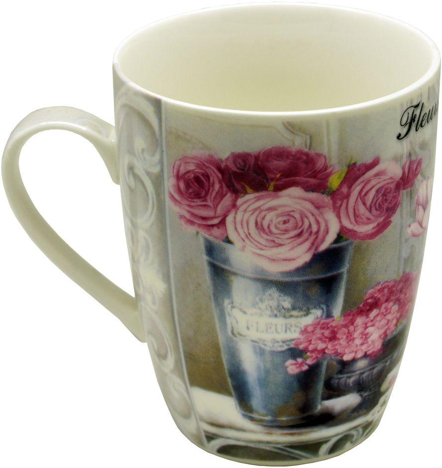 Кружка GiftnHome Парижские цветы, 350 млM-320 FleursЧашка из фарфора, подарочная упаковка- картон