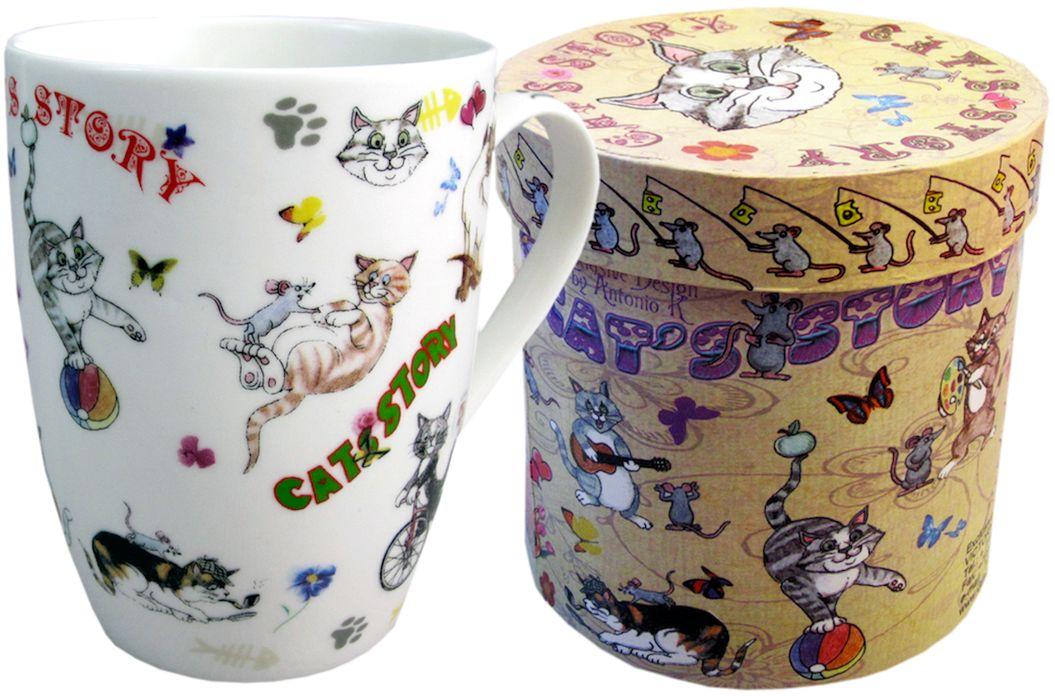 Кружка GiftnHome Кошки-мышки, 320 мл115610Кружка изготовлена из костяного фарфора, в подарочной коробке из картона