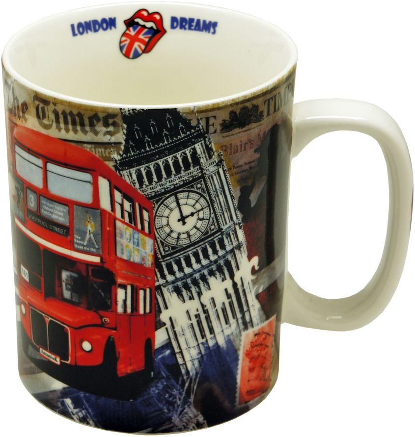 Кружка GiftnHome Лондонские фантазии, 700 млXP62-Lon1Кружка из костяного фарфора, в подарочной упаковке