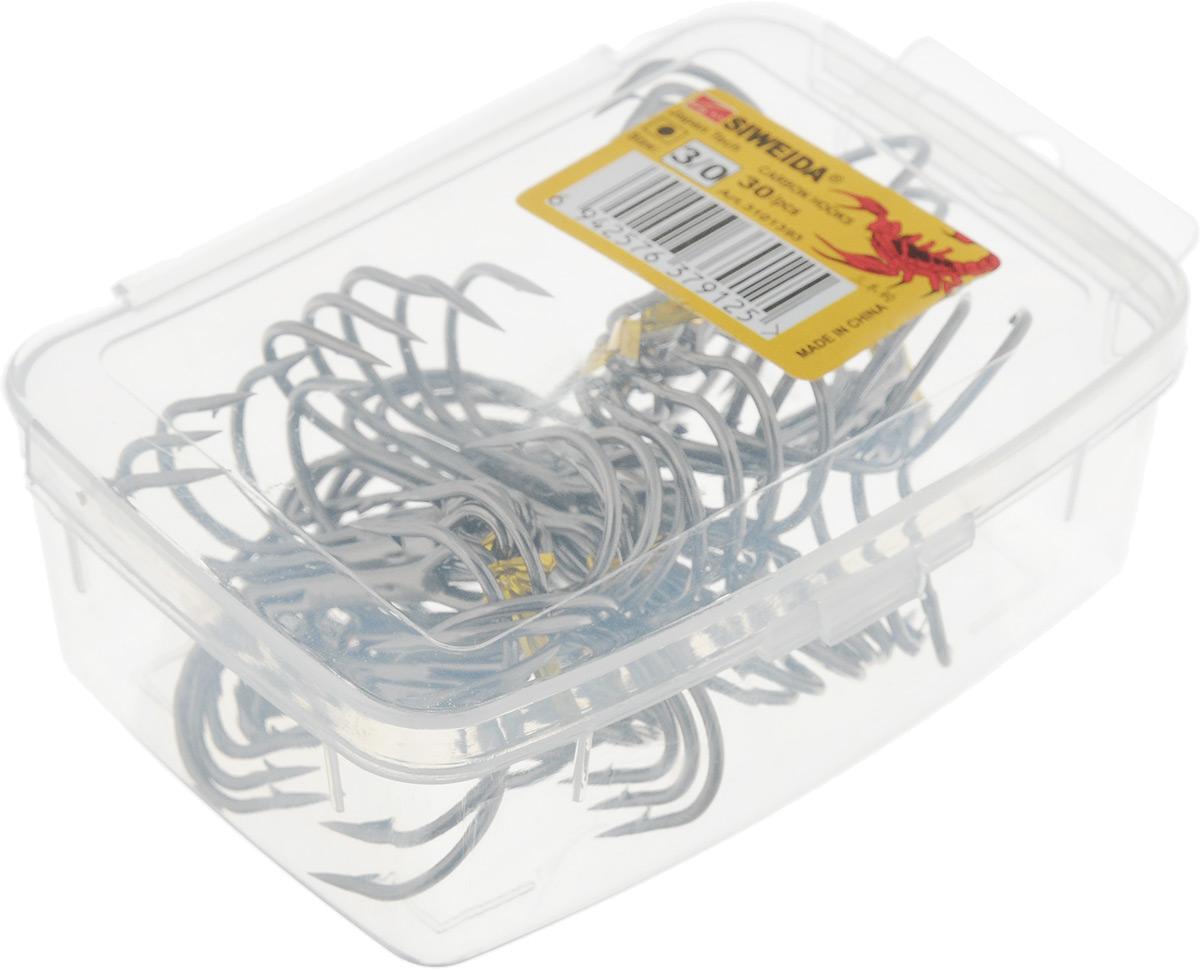 Крючок рыболовный SWD Scorpion, тройной, №3, 30 шт13-10-8-088Бюджетный тройной крючок SWD Scorpion выполнен из высококачественной углеродистой легированной проволоки. Применяется новейшая технология термообработки. Стойкое антикоррозийное покрытие обеспечивает крючкам долгий срок эксплуатации. Жала крючков подвержены электрохимической обработке.