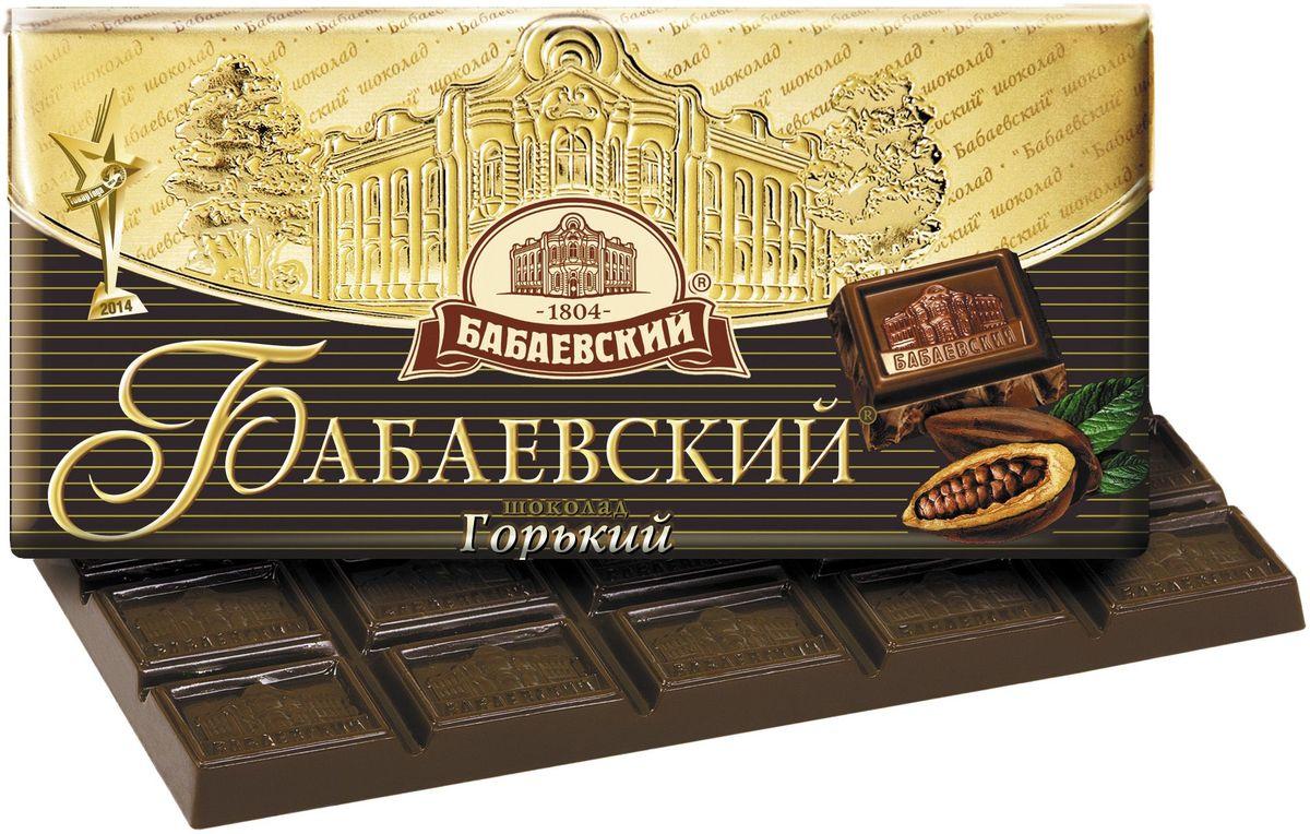 Бабаевский горький шоколад, 100 г0120710Гордость бренда Бабаевский - высококачественный темный шоколад, созданный с использованием отборных какао бобов и какао масла.Уважаемые клиенты! Обращаем ваше внимание на то, что упаковка может иметь несколько видов дизайна. Поставка осуществляется в зависимости от наличия на складе.