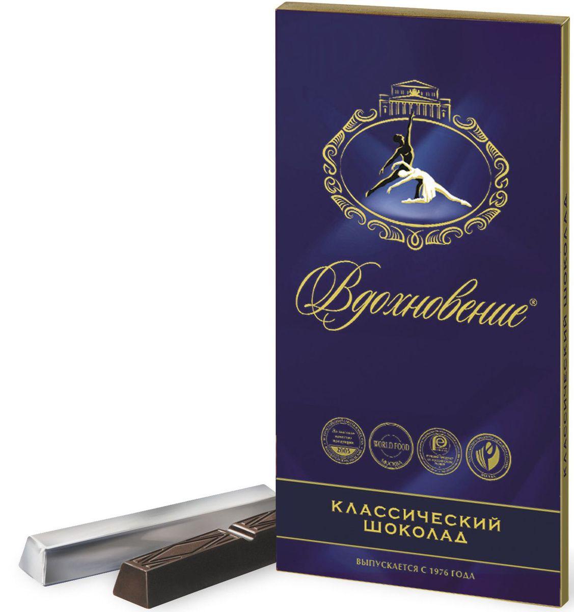 Бабаевский Вдохновение классический горький шоколад, 100 гББ08830Гордость бренда Бабаевский - высококачественный темный шоколад, созданный с использованием отборных какао бобов и какао масла.