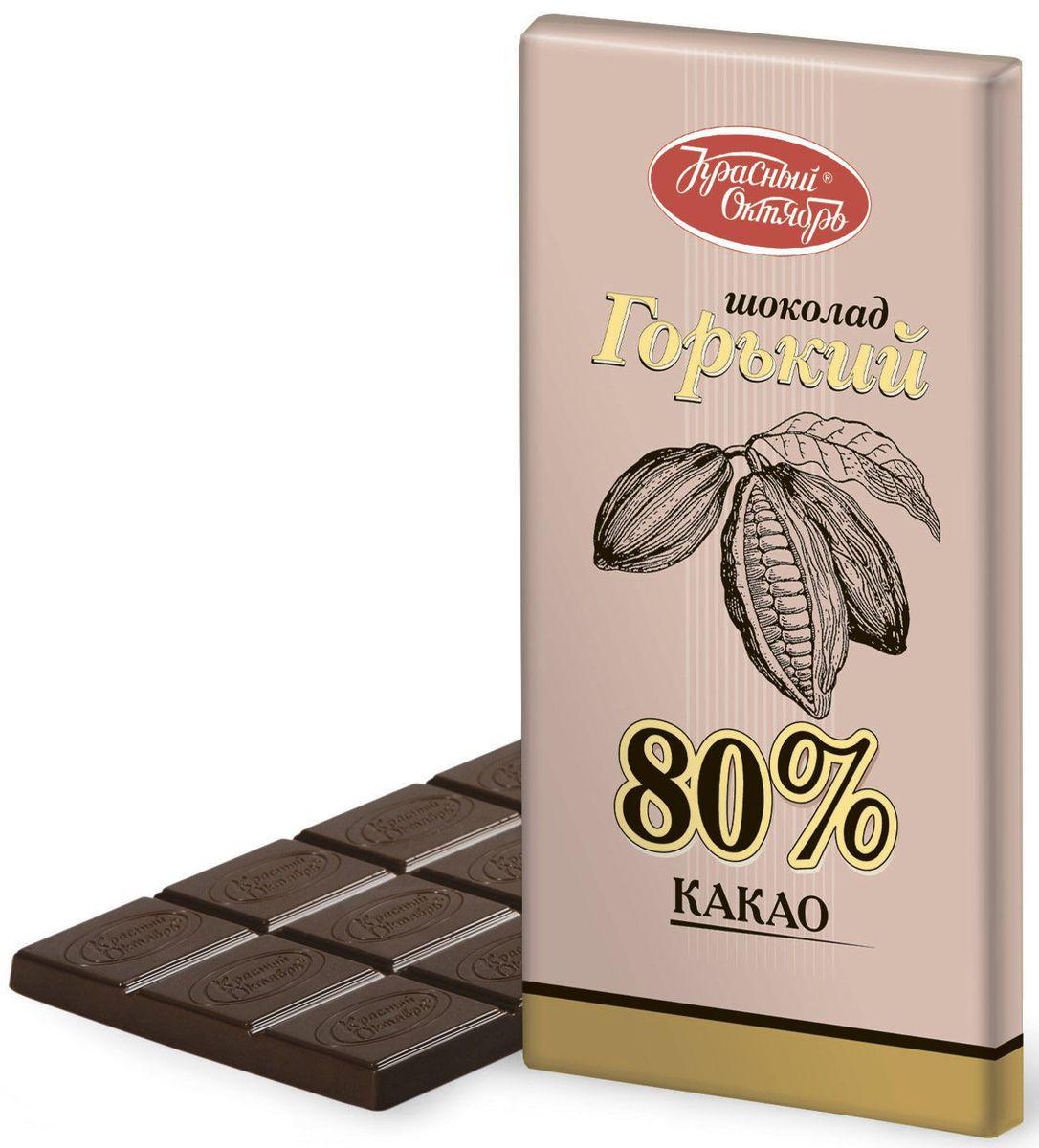 Красный Октябрь горький 80% какао шоколад, 75 гКО01512Красный Октябрь - уникальный пример в истории российского кондитерского дела, ведь таким количеством знаменитых марок, пожалуй, не может похвастаться ни один другой производитель в России.