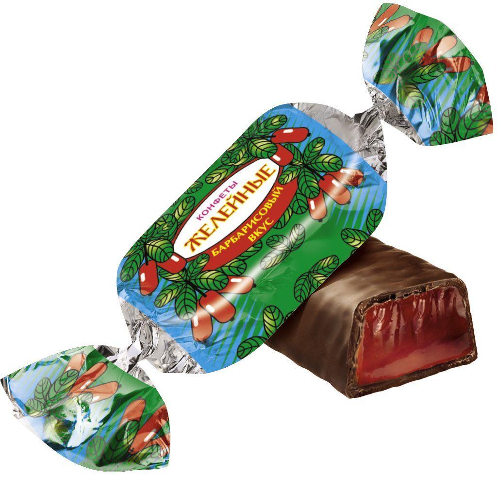 """Красный Октябрь """"Желейные"""" конфеты со вкусом барбариса глазированные в шоколаде, 250 г КО04485"""