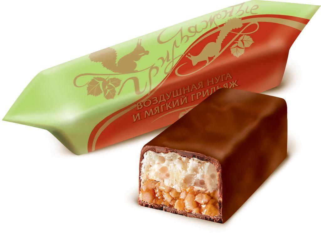 Красный Октябрь  Грильяжные конфеты воздушная нуга и мягкий грильяж в шоколадной глазури, 200 гКО17083Знаменитые московские конфеты, напоминают Вкус Детства!