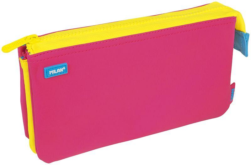 Milan Пенал-косметичка Capsule Mix цвет розовый желтый72523WDПенал Milan Capsule Mix станет не только практичным, но и стильным школьным аксессуаром.Пенал выполнен из прочных материалов и закрывается на пластиковую тракторную застежку-молнию. Состоит из 5 вместительных отделений, в которых без труда поместятся канцелярские принадлежности.Такой пенал-косметичка станет незаменимым помощником для школьника, с ним ручки и карандаши всегда будут под рукой и больше не потеряются.