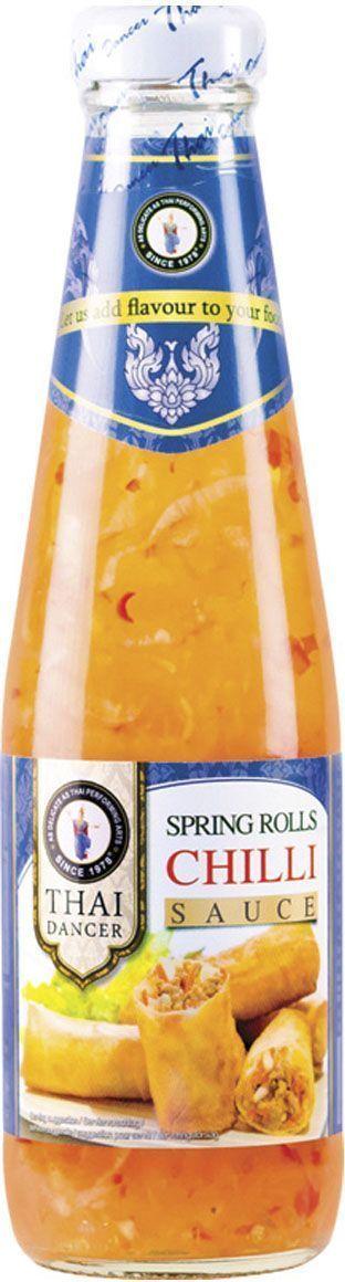 Thai Dancer Соус для спринг-роллов, 300 млFS0002016Восхитительный кисло-сладкий соус для роллов идеально подходит в качестве дополнения к роллам и блюдам из мяса и морепродуктов. Добавляется к салатам и блюдам, требующим обжаривания на сковороде вок. Используется для блюд китайской, японской, тайской, вьетнамской, индонезийской кухни. Идеально подходит для обмакивания спринг-роллов, дим самов, крекеров, чипсов, картофеля-фри и блюд во фритюре. Имеет кисло-сладкий вкус, присутствие в числе ингредиентов перца чили на вкусе практически не сказывается, благодаря чему соус подходит и для тех, кто не любит острого.