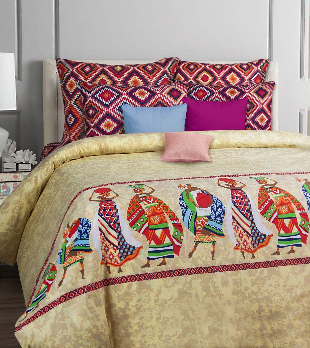 Комплект постельного белья Mona Liza Classik. Afrika, 1,5-спальный, наволочки 50х70, бязь551116/44Коллекция постельного белья MONA LIZA Classic поражает многообразием дизайнов. Среди них легко подобрать необходимый рисунок, который создаст в доме уют. Комплекты выполнены из бязи 100 % хлопка.