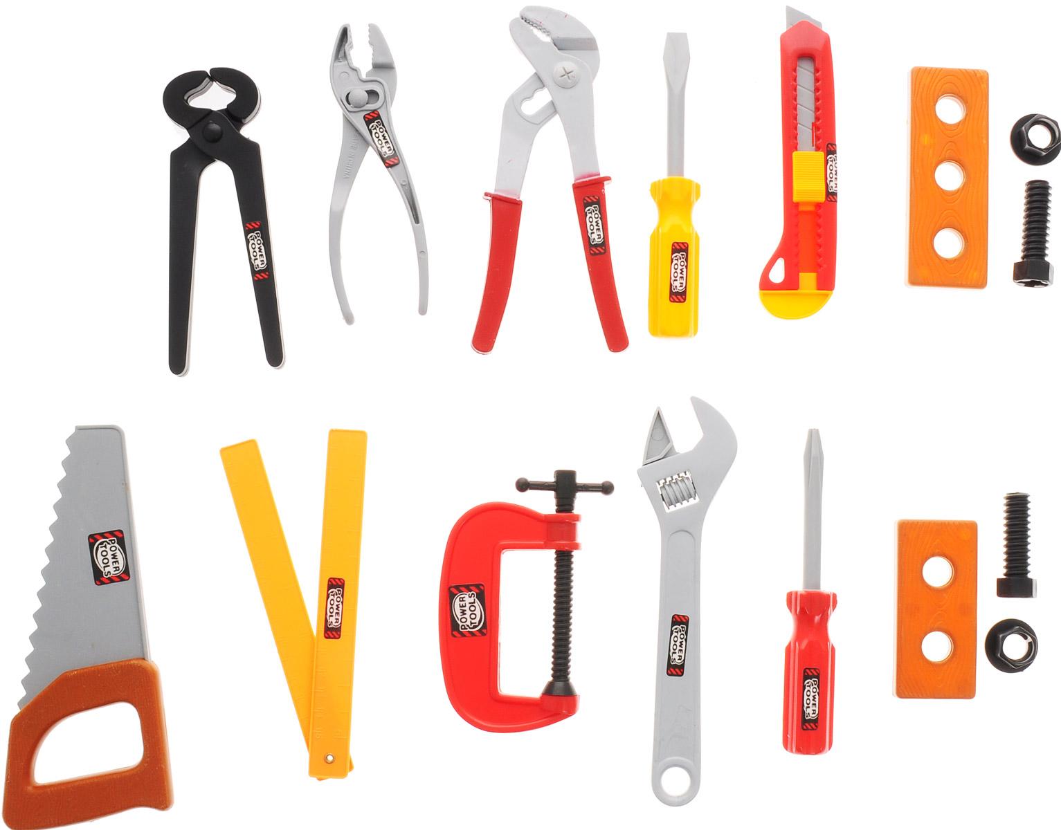 Подробнее о 1TOY Игрушечный набор инструментов Профи мастер 11 предметов 1toy электроинструмент профи мастер