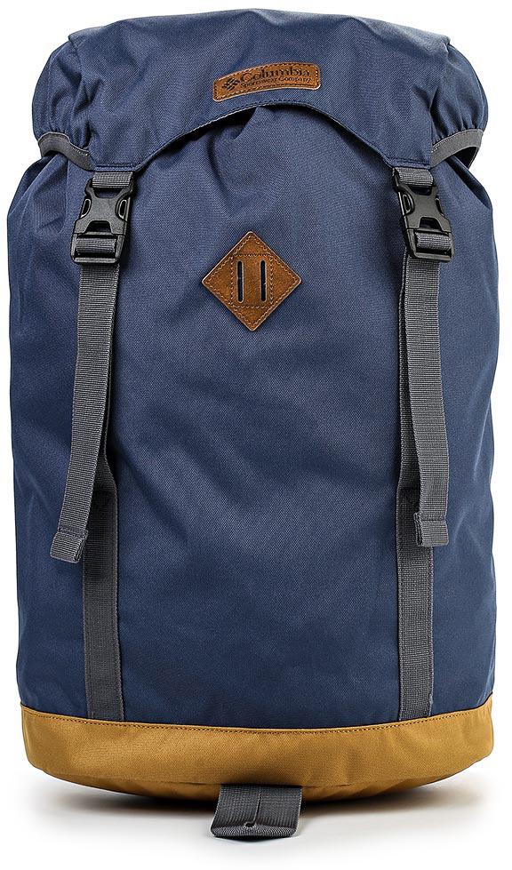 Рюкзак городской Columbia Classic Outdoor 25l Daypack Backpack, цвет: темно-синий. 1719891-49215107A-W1-224/776Рюкзак Columbia Classic Outdoor 25L выполнен из прочного износостойкого текстиля. У модели ручка для переноски; регулируемые плечевые ремни; откидной клапан с регулируемыми застежками; один внешний карман с молнией, одно объемное отделение с регулирующей объем кулиской, отсутствие подкладки.
