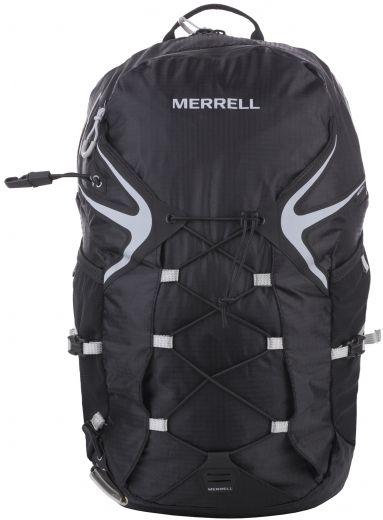 Рюкзак для походов Merrell Capra Trail 2.0, цвет: черный. JBS23934SVCB-RT6-E150Рюкзак для походов Merrell Capra Trail 2.0 выполнен из текстиля. Подходит для бега по пересеченной местности. У модели боковые карманы из сетки с отделением для бутылки, крепление для светового маячка, резиновая шнуровка спереди для, дополнительного места хранения, возможность вставки камеры с жидкостью, вставки из дышащего материала на плечах, регулируемые грудные ремни, ремень на бедрах боковыми застежками и карманами.Вместительное основное отделение на молнии, с защитой от промокания, удобная спинка из легкого дышащего материала. Петли для трекинговых палок-ледорубов.