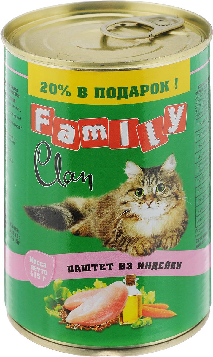 Консервы для кошек Clan Family, паштет из индейки, 415 г130.1.701Полнорационный влажный корм Clan Family для каждодневного питания кошек. Консервы изготовлены из высококачественного отечественного мясного сырья. У корма насыщенный вкус и сбалансированный состав. Способствует профилактике мочекаменной болезни. Состав: фарш индейки и мясные субпродукты, желирующая добавка, рыбная мука, рыбий жир, сухие дрожжи, таурин, растительное масло, калия хлорид, сухой яичный желток, калия нитрат, йодированная соль, вода. Анализ: сырой протеин 8,7%, сырой жир 6%, сырая зола 2%, поваренная соль 0,4-0,7 г, таурин 0,2 г, фосфор 0,5 г, кальций 0,6 г. Энергетическая ценность в 100 г продукта: 88,8 кКал. Товар сертифицирован.