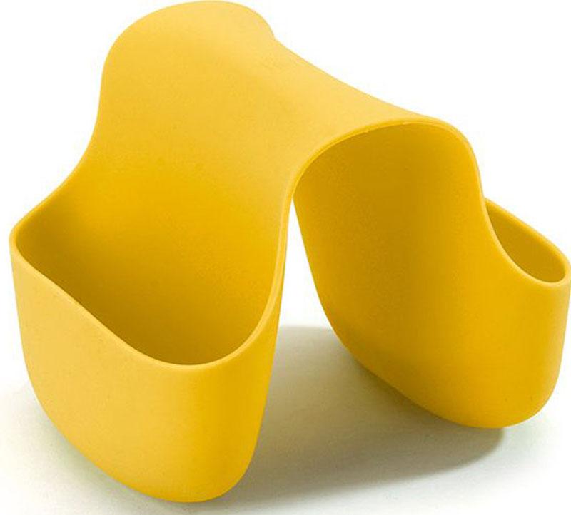 Подставка для кухонных принадлежностей Umbra Saddle, цвет: желтый, 10,2 х 12,7 х 10,2 см330210-1048Гибкий органайзер с двумя кармашками в новом модном цвете. В нем может поместиться что угодно: губки и щётки для мытья посуды, диспенсеры с моющими средствами и прочие небольшие предметы на кухне или в ванной. Не содержит BPA. Можно мыть в посудомоечной машине. Сочетается с другими аксессуарами для кухни в новой цветовой палитре: диспенсером Joey и сушилкой Tub. Дизайнер Ross & Doell