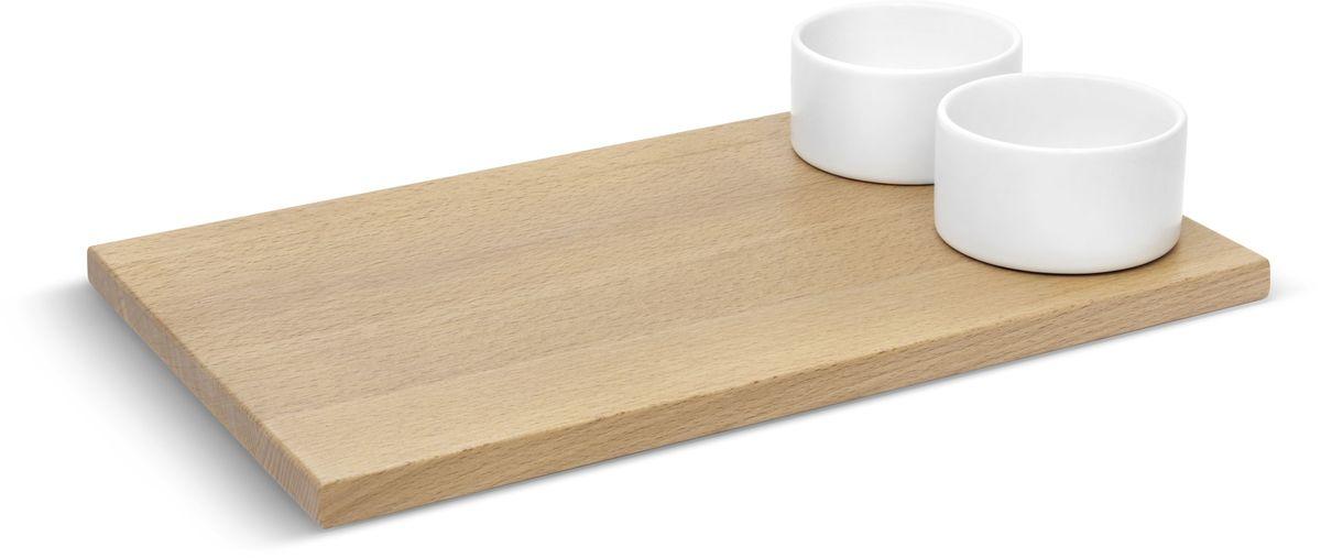 Доска для хлеба Umbra SAVORE, с соусницами. 460164-668460164-668Красивое решение для подачи хлеба. Доска изготовлена из натуральной древесины бука. Две керамические емкости предназначены для подачи соусов, масла, джема. Набор входит в коллекцию Savore – эксклюзивную серию высококачественных товаров для кухни. Дизайн: Sung wook Park & David Green