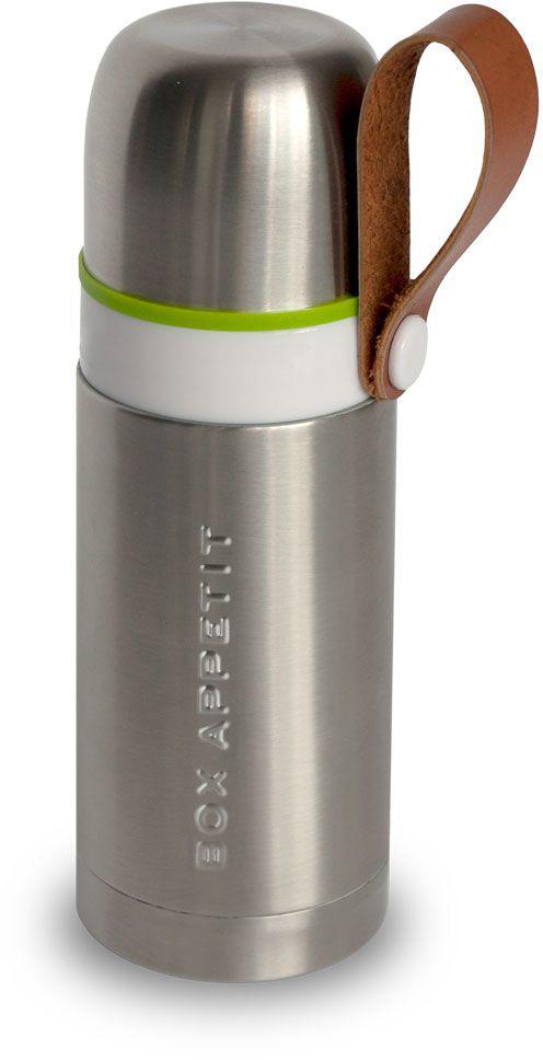 Термос Black+Blum Box Appetit, 350 мл. BAM-TF-S001115610Компактный функциональный термос, выполненный в винтажном стиле. Сохраняет температуру горячих напитков на протяжении 8 часов и холодных — на протяжении 24 часов. Оснащен ручкой из эко-кожи и удобной кнопкой на горлышке для переливания. Объем — 350 миллилитров.