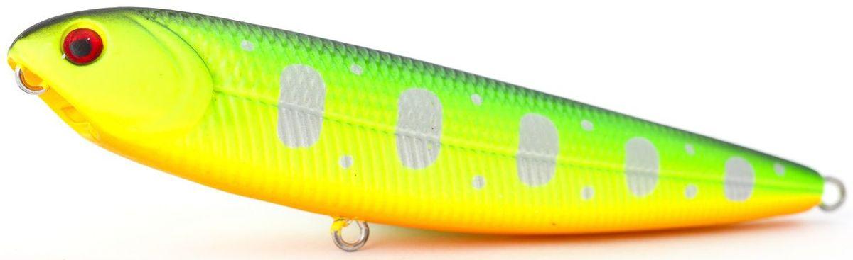 Воблер плавающий Atemi Sugar Pencil, цвет: fire tiger, длина 10 см, вес 10 г03/1/12Плавающий воблер Atemi Sugar Pencil является наилучшей приманкой как для троллинга, так и для ловли в заброс. Он также хорошо работает при ловле рыбы против течения. Рекомендуется для ловли - щуки, окуня, форели, басса, язя, голавля, желтоперого судака, жереха.Проводите по более глубоким местам, в местах сбора кормовой базы хищних рыб.Во время максимальной активности рыб, лучше брать ярко окрашенную приманку, которая будет выделяться в толще воды и сразу бросится хищнику в глаза.Если у хищника плохой аппетит, то расцветка должна быть максимально близкой к расцветке кормовой рыбы.