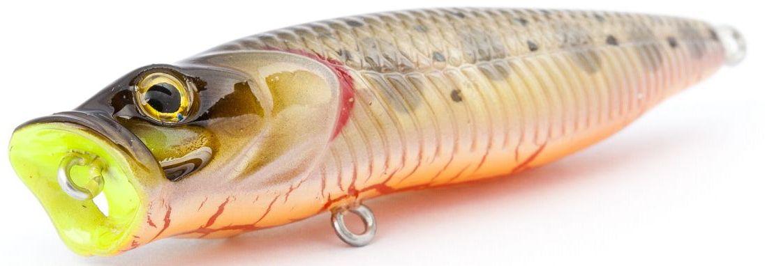Воблер плавающий Atemi Crazy Pop, цвет: trout, длина 8 см, вес 16 г03/1/12Плавающий воблер Atemi Crazy Pop является наилучшей приманкой как для троллинга, так и для ловли в заброс. Рекомендуется для ловли щуки, окуня, форели, басса, язя, голавля, желтоперого судака, жереха. Эта приманка превосходна для ловли рыбы, если ее забрасывать вверх по течению, только обеспечивайте скорость проводки немного быстрее, чем скорость течения. Она также хорошо работает при ловле рыбы против течения, проводите приманку по более глубоким местам, там, где чаще стоят в засаде более крупные экземпляры. Необходимое условие для ловли на Atemi Crazy Pop - чтобы вы использовали правильно подобранную снасть: легкий и чувствительный спиннинг, крошечные застежки и вертлюжки, самую тонкую леску, которой сможете управлять приманкой, чтобы обеспечить ей наилучшую работу.
