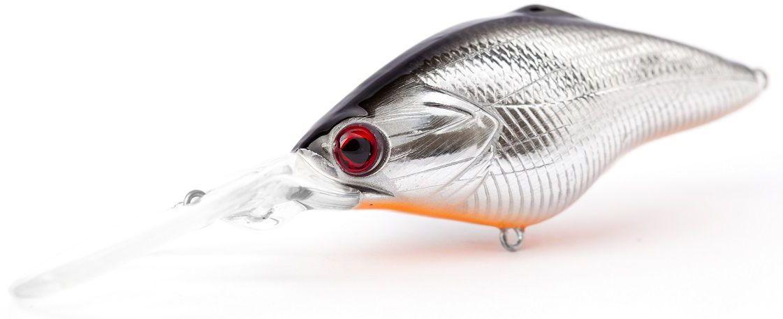 """Воблер плавающий Atemi """"Power Crank"""", цвет: Silver Black, длина 6,5 см, вес 14,5 г, заглубление 3,5 м 513-00031"""