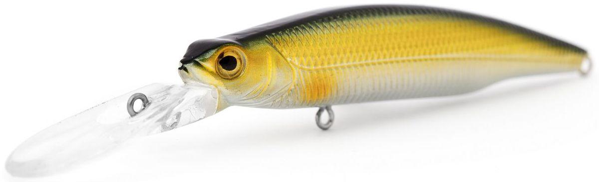 Воблер плавающий Atemi Deep Run, цвет: gold black, длина 9 см, вес 10,6 г, заглубление 2 м03/1/12Воблер Atemi Deep Run плавающий рекомендуется для ловлищуки, окуня, форели, басса, язя, голавля, желтоперого судака, жереха. Эта приманка превосходна для ловли рыбы, если ее забрасывать вверх по течению. Только обеспечивайте скорость проводки немного быстрее, чем скорость течения. Заглубление: 2 м.