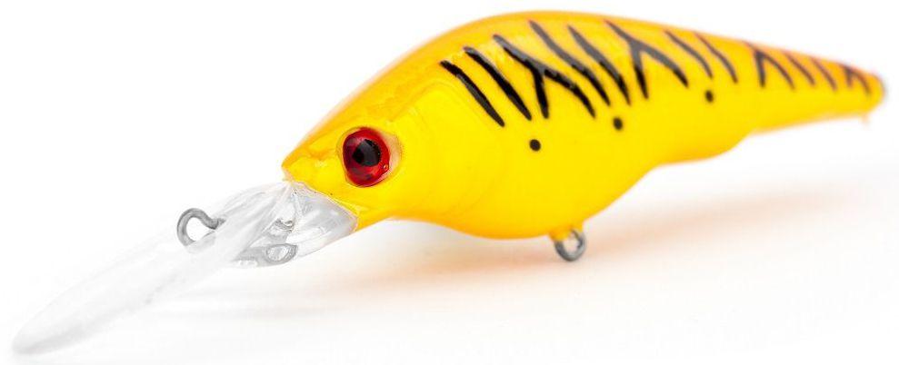 Воблер суспендер Atemi Black Widow Two, цвет: orange tiger, длина 6 см, вес 8,5 г, заглубление 2 м03/1/12Воблер Atemi Black Widow Two - это яркая и качественная приманка, которая рекомендуется для ловли щуки, форели, басса, голавля, жереха, желтоперого судака, окуня. Эта легкая приманка может использоваться для ловли рыбы вверх по течению, если обеспечить более высокую, нежели скорость течения, скорость проводки. Воблер также может использоваться и при ловли против течения.Заглубление: 2 м.
