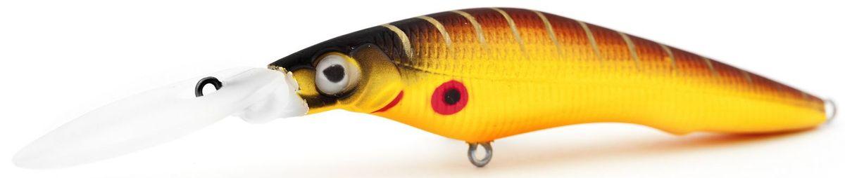 Воблер плавающий Atemi Deep Black Widow, цвет: mat tiger, длина 5 см, вес 1,5 г, заглубление 1,5 м218032Плавающий воблер Atemi Deep Black Widow рекомендуется для ловли щуки, окуня, форели, басса, язя, голавля, желтоперого судака, жереха. Необходимое условие для ловли на воблер - чтобы вы использовали правильно подобранную снасть: легкий и чувствительный спиннинг, крошечные застежки и вертлюжки, самую тонкую леску, которой сможете управлять приманкой, чтобы обеспечить ей наилучшую работу. Воблер также хорошо работает при ловле рыбы против течения, проводите приманку по более глубоким местам, там, где чаще стоят в засаде более крупные экземпляры. Эта приманка превосходна для ловли рыбы, если ее забрасывать вверх по течению, только обеспечивайте скорость проводки немного быстрее, чем скорость течения. Для озер Atemi Deep Black Widow и водохранилищ является наилучшей приманкой как для троллинга, так и для ловли в заброс.Заглубление: 1,5 м.