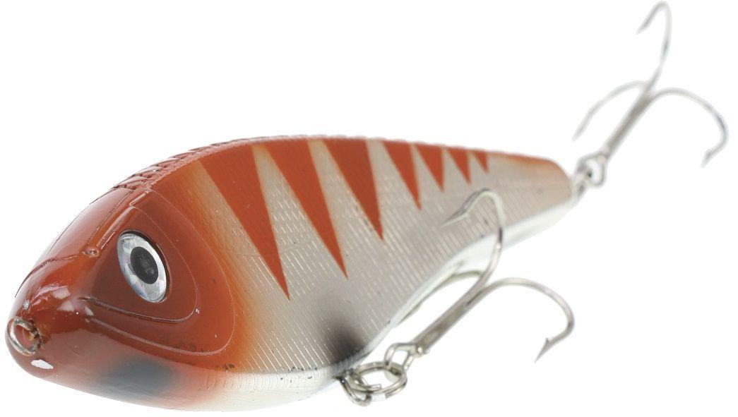 Джеркбейт Blind Derky Jerk, цвет: оранжевый, серый, длина 15 см, вес 70 г10948Джеркбейт Blind Derky Jerk - это приманка, для которой характерна проводка с чередованием рывков и остановок, в противном случае изделие из-за большого веса и размера пойдет ко дну. Подобная скачкообразная игра привлекает хищных рыб и выманивает их с глубины. Рекомендуется для ловли - щуки, окуня, форели, басса, язя, голавля, желтоперого судака, жереха.