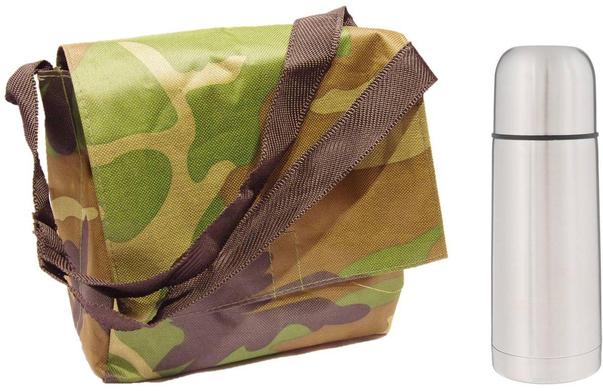 Набор Arctix: термос 350 мл, туристическая сумка, цвет: зеленыйТТС-07035Туристическая сумка + термос Arctix 350 мл.