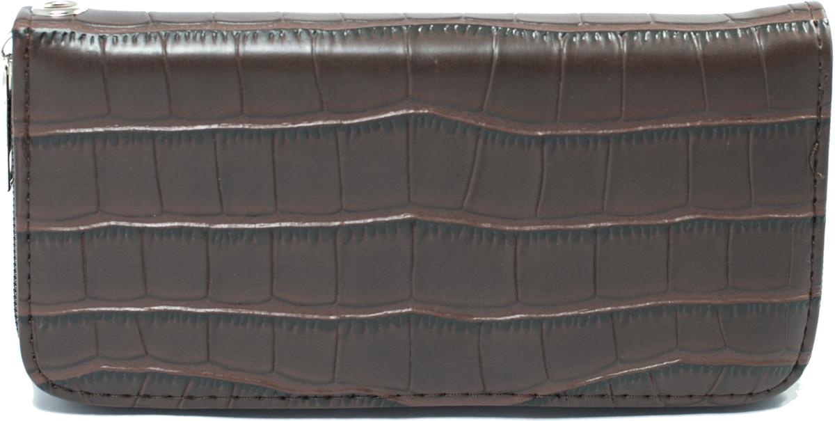 Кошелек женский Mitya Veselkov, цвет: коричневый. K4-BROBM8434-58AEЖенский кошелек отличного дизайна от модного бренда Mitya Veselkov. Купюры вмещаются в полную длину. Закрывается кошелек на молнию. Внутри расположено три больших отделения для купюр, кармашки для пластиковых карт и визиток, одно отделение для мелочи.Такой кошелек стильно дополнит ваш образ и станет незаменимым аксессуаром.