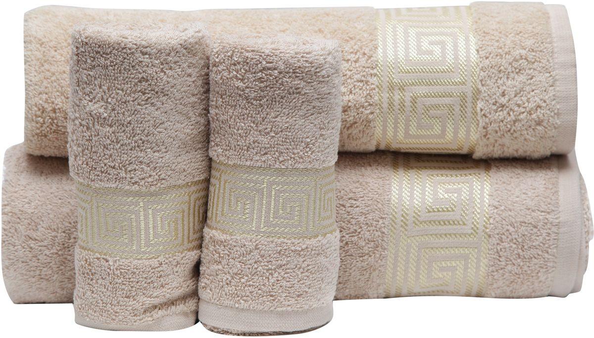 Набор полотенец Proffi Home, цвет: бежевый, 4 шт. PH8394PH8394_beigeПри изготовлении махровых полотенец используется качественный 100 % хлопок. Махровые полотенца будут приятным добавлением в интерьере ванной комнаты. Мягкое махровое полотенце отлично впитывает влагу и быстро сохнет, детям приятно в него завернуться после принятия ванны или посещения сауны. Набор их 4 махровых полотенец разных размеров (70*140, 50*100, 30*50 - 2 шт) будет отличным подарком на любой праздник.