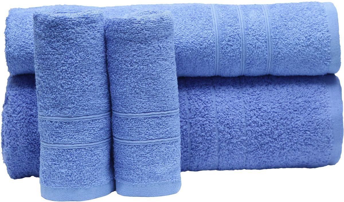 Набор полотенец Proffi Home, цвет: синий, 4 шт. PH8394PH8394_blueПри изготовлении махровых полотенец используется качественный 100 % хлопок. Махровые полотенца будут приятным добавлением в интерьере ванной комнаты. Мягкое махровое полотенце отлично впитывает влагу и быстро сохнет, детям приятно в него завернуться после принятия ванны или посещения сауны. Набор их 4 махровых полотенец разных размеров (70*140, 50*100, 30*50 - 2 шт) будет отличным подарком на любой праздник.