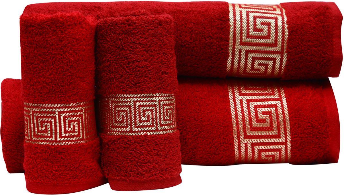 Набор полотенец Proffi Home, цвет: бордовый, 4 шт. PH8394PH8394_bordoПри изготовлении махровых полотенец используется качественный 100 % хлопок. Махровые полотенца будут приятным добавлением в интерьере ванной комнаты. Мягкое махровое полотенце отлично впитывает влагу и быстро сохнет, детям приятно в него завернуться после принятия ванны или посещения сауны. Набор их 4 махровых полотенец разных размеров (70*140, 50*100, 30*50 - 2 шт) будет отличным подарком на любой праздник.