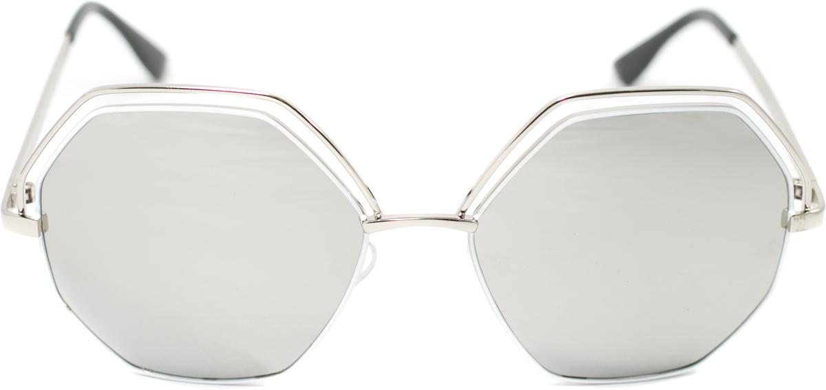 Очки солнцезащитные Mitya Veselkov, цвет: серебристый. OS-130INT-06501Прекрасные антибликовые очки Mitya Veselkov, станут прекрасным и стильным аксессуаром для вас и защитят от УФ лучей. Они помогут глазу более четко распознать картинку, засвеченную солнечными лучами, при этом скорректируют все возникшие искажения.