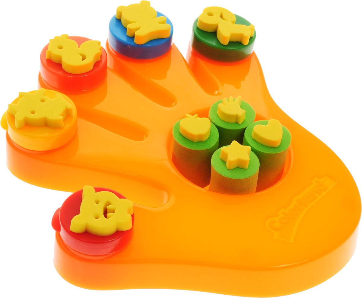 Molly Краски пальчиковые со штампами Ладошка цвет оранжевыйFP-37Пальчиковые краски предназначены для совсем еще маленьких детей, которые в силу своего возраста не в состоянии удерживать в руке кисть, но уже испытывают потребность в рисовании. Нетоксичные пальчиковые краски для детей являются абсолютно безопасными. Смешивая краски и рисуя пальчиками, ребенок развивает воображение, уверенность в себе и независимость. Консистенция пальчиковых красок позволяет наносить их практически на любую поверхность: стекло, плитка в ванной, бумага. Пальчиковые краски, выполненные на водной основе, легко снимаются с любой поверхности, смываются с рук и отстирываются с одежды. Чудесные пальчиковые краски Molly предназначены для маленьких детей от одного года. В наборе с красками вы найдете штампы, с которыми учиться рисовать будет легче и гораздо интереснее. Состав: пищевой краситель 1-2%, целлюлозный загуститель 1,5-2,5%, глицерин 3-5%, мел 5-10%, консервант косметический 0,3-0,5%, вода питьевая.